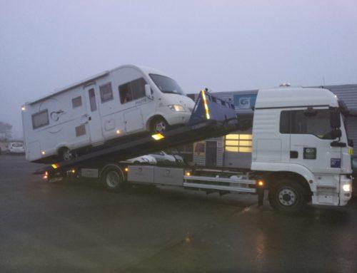 Dépannage d'un camping-car sur autoroute